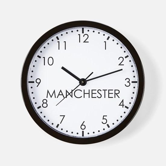 MANCHESTER Modern Newsroom Wall Clock
