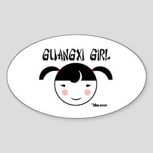 GUANGXI GIRL Oval Sticker