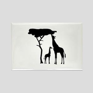 Giraffe family Rectangle Magnet