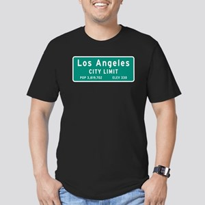 Los Angeles City Limit Men's Fitted T-Shirt (dark)