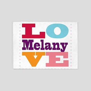 I Love Melany 5'x7'Area Rug