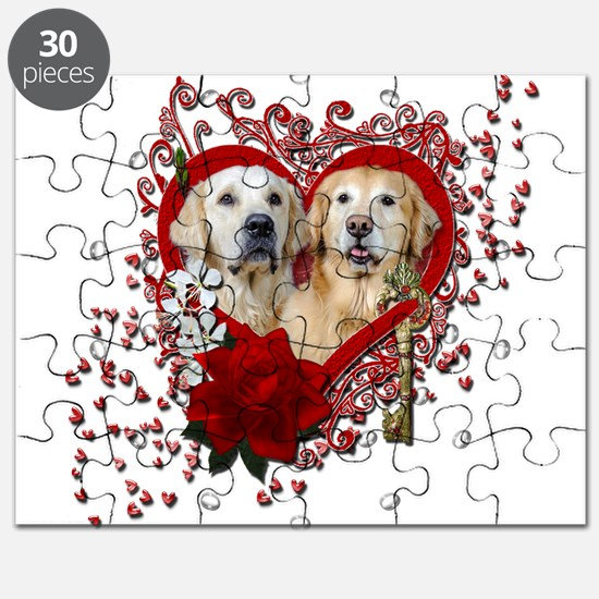 Valentines - Key to My Heart - Goldens Puzzle