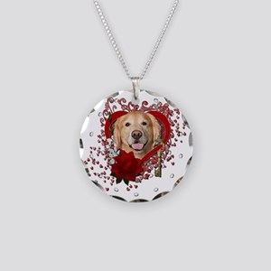Valentines - Key to My Heart - Golden Necklace Cir