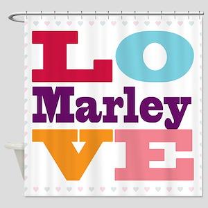I Love Marley Shower Curtain