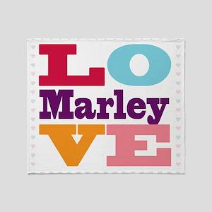 I Love Marley Throw Blanket