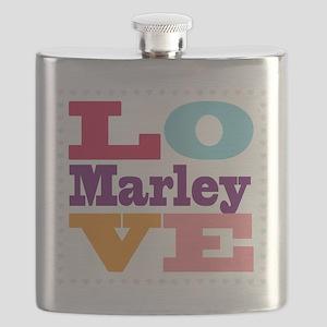 I Love Marley Flask