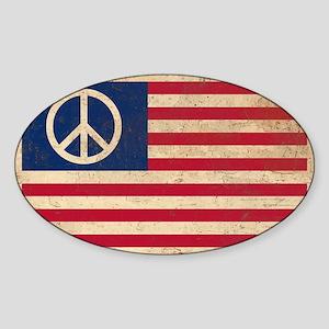 PEACE - Retro AMERICAN FLAG Sticker