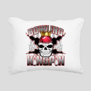 Bowling Kingpin Rectangular Canvas Pillow