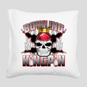 Bowling Kingpin Square Canvas Pillow