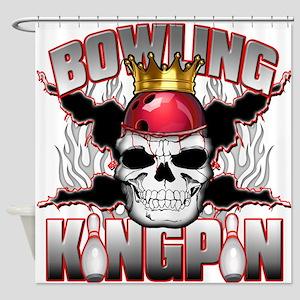 Bowling Kingpin Shower Curtain