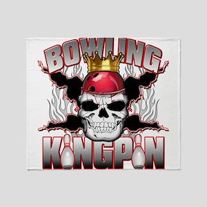Bowling Kingpin Throw Blanket