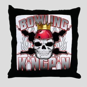 Bowling Kingpin Throw Pillow