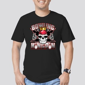 Bowling Kingpin Men's Fitted T-Shirt (dark)