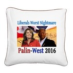 Liberals Worst Nightmare Square Canvas Pillow