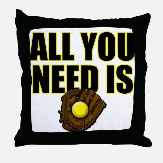 AllYouNeedisGlove copy Throw Pillow
