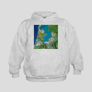 Polders, satellite image - Kids Hoodie
