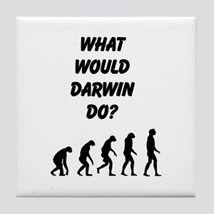 What Would Darwin Do? Tile Coaster