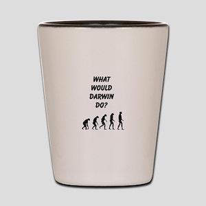What Would Darwin Do? Shot Glass