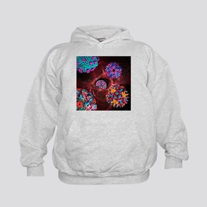 Viral infection, conceptual artwork - Kids Hoodie