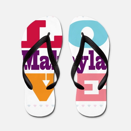 I Love Makayla Flip Flops