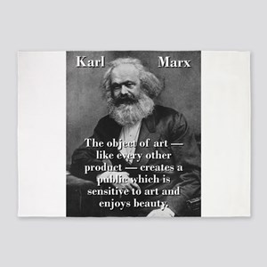 The Object Of Art - Karl Marx 5'x7'Area Rug