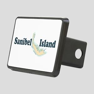Sanibel Island - Map Design. Rectangular Hitch Cov