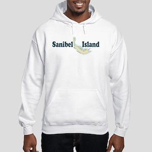 Sanibel Island - Map Design. Hooded Sweatshirt