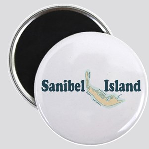 Sanibel Island - Map Design. Magnet