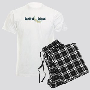 Sanibel Island - Map Design. Men's Light Pajamas