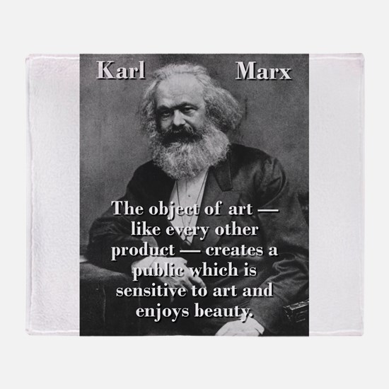 The Object Of Art - Karl Marx Throw Blanket