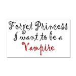Princess Vampire Car Magnet 20 x 12