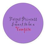 Princess Vampire Round Car Magnet