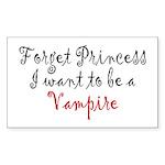 Princess Vampire Sticker (Rectangle)