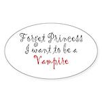 Princess Vampire Sticker (Oval 50 pk)
