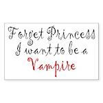 Princess Vampire Sticker (Rectangle 50 pk)
