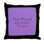Princess Vampire Throw Pillow