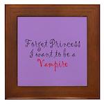 Princess Vampire Framed Tile