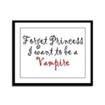 Princess Vampire Framed Panel Print