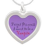 Princess Vampire Silver Heart Necklace