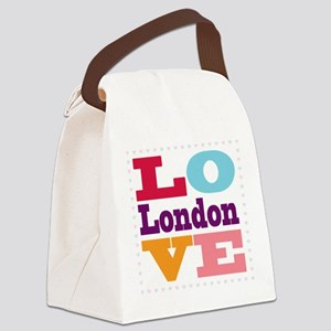 I Love London Canvas Lunch Bag