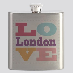 I Love London Flask