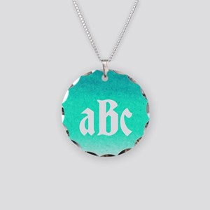 Birthstone Color March Necklace Circle Charm