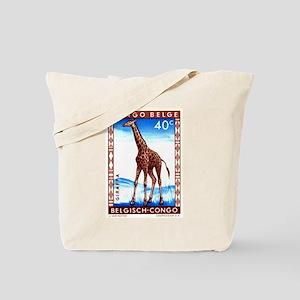 Vintage 1959 Belgian Congo Giraffe Postage Stamp T