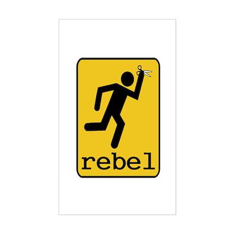 Rebel Sticker (Rectangle)