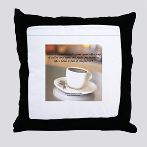Another Cup of Coffee Cup Throw Pillow