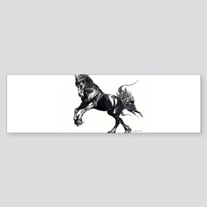 Keegan, Friesian Stallion Bumper Sticker