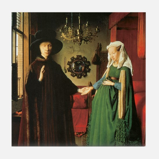 Jan van Eyck Marriage Tile Coaster