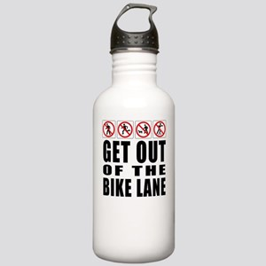 Get out of the bike lane Stainless Water Bottle 1.