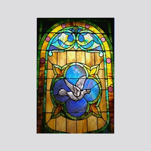 Dove Stained Glass Refridgerator Magnet