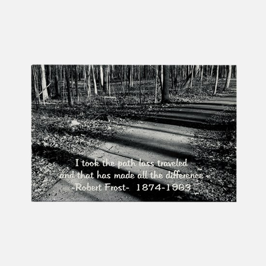 Road Less traveled Photo Refridgerator Magnet